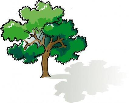 free vector Colored oak tree