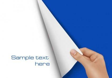 Blank paper 02 vector