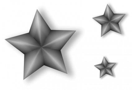 free vector 3 Metal Stars with Transparency