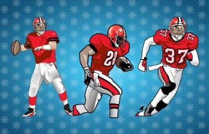 free vector American Football Players Vector
