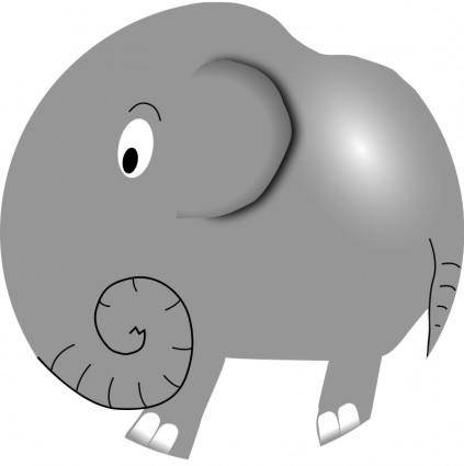 free vector Elephant - Funny Little Cartoon