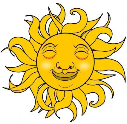 free vector Smiling Sun