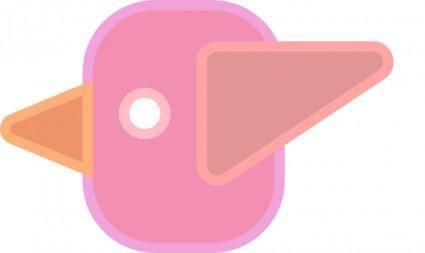 free vector Abstract cute simple cartoon bird