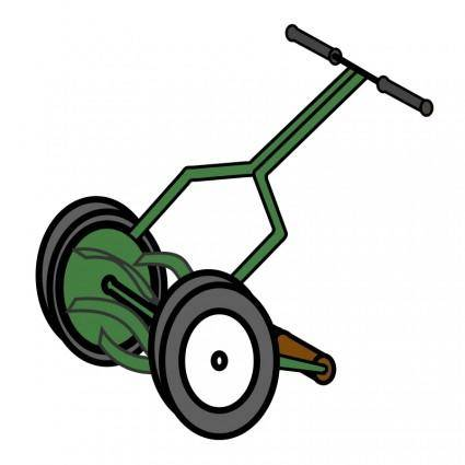 free vector Cartoon Push Reel Lawn Mower