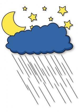 free vector Rainy night