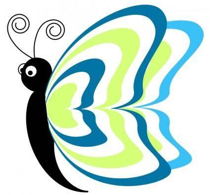 free vector Cartoon_butterfly_cv4