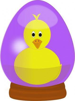 free vector Chick in Easter Egg Globe