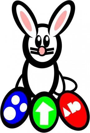 free vector Bunney of easter