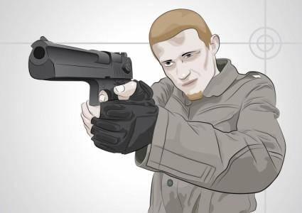 free vector Shooting Man