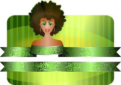 Afro Girl Border