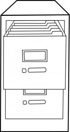 Classeur ouvert / Open file cabinet
