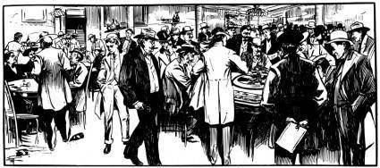 Men Gambling - 1901