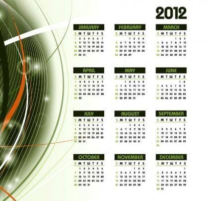 2012 calendar 01 vector elements