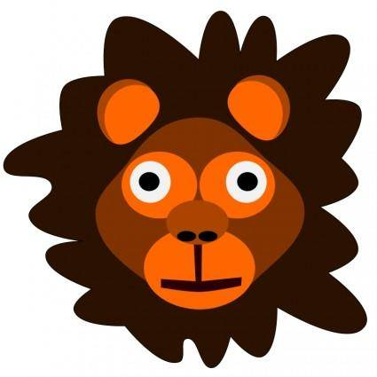 free vector Crazy lion