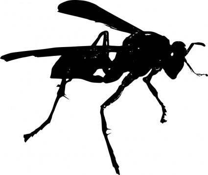 free vector Wasp BW