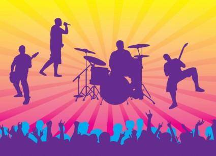 free vector Live Concert Vector