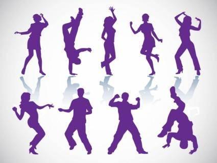 free vector Dancers Vectors