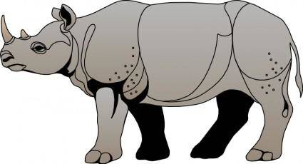 free vector Rhinoceros