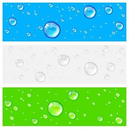 free vector Crystal clear water drops 01 vector