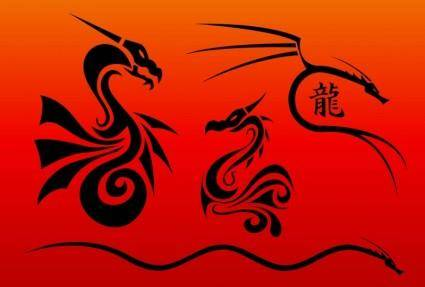 free vector Chinese Dragons Vectors