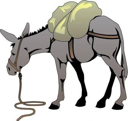 free vector Donkey