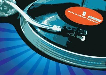 free vector Music Vector Record Player