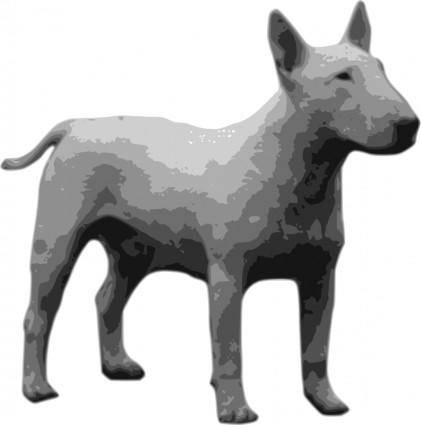 free vector Bullterrier grayscale