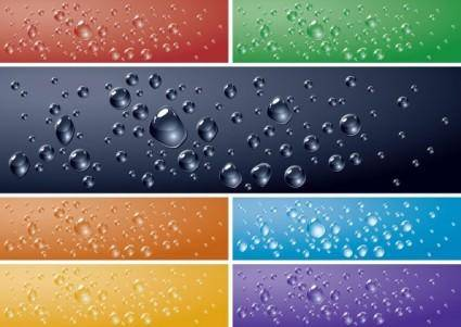 Crystal clear water drops 02 vector