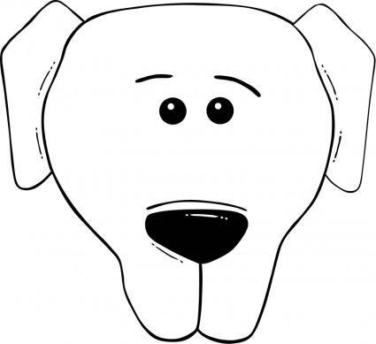 Dog Face Cartoon - World Label