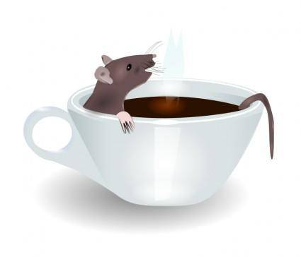 free vector Rat in coffee