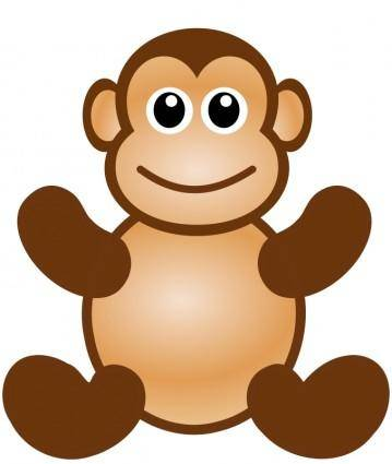 free vector Monkey toy