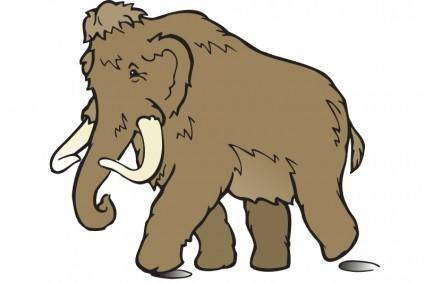 free vector Wooly Mammoth