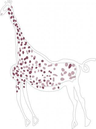 free vector Rock Art Acacus Giraffe