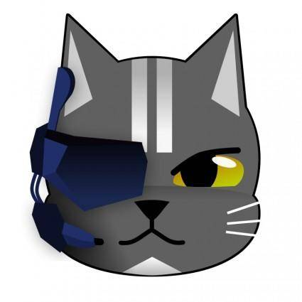 free vector Futuristic Cat
