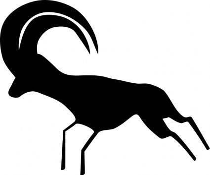 free vector Rock Art Saharan Antelope