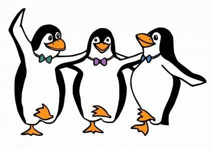free vector Dancing Penguins