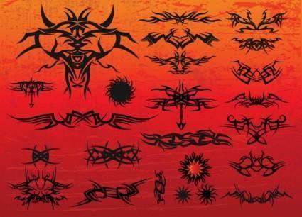 free vector Free Tribal Tattoo Vectors