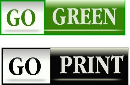 free vector Go Green Bars