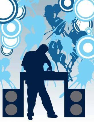 free vector DJ Party