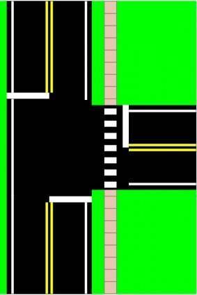 free vector Three Way Intersection