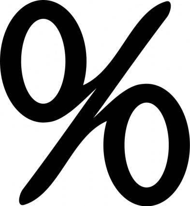 free vector Percentage sign