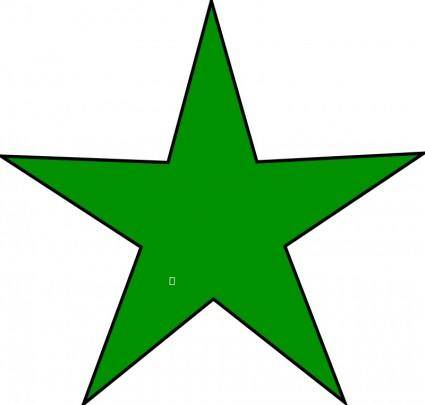 free vector Esperanto star