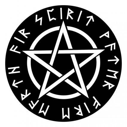 Wiccan White Pentagram Reversed