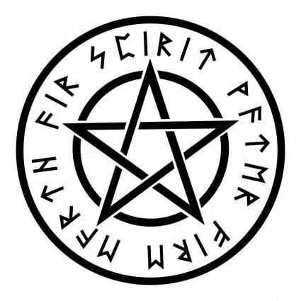 Wiccan White Pentagram