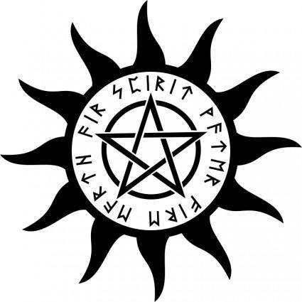 free vector Symbol with pentagram