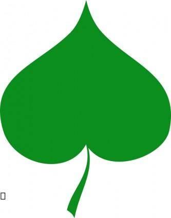 free vector Spring symbol - Linden leaf