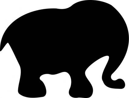 free vector Cartoon elephant silhouette