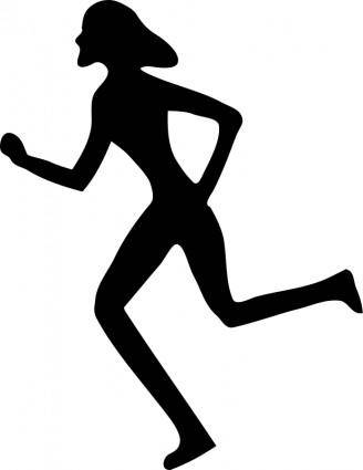 free vector Woman running