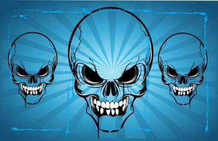 Horror Skulls Vector Art