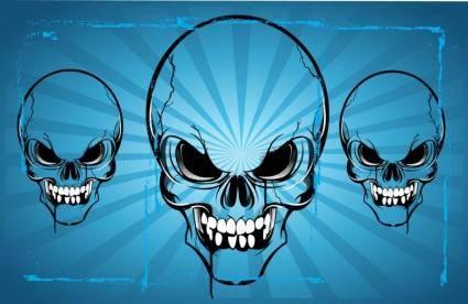 free vector Horror Skulls Vector Art